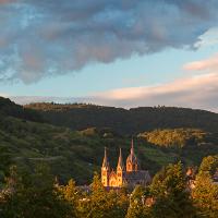 Blick über Heppenheim zum Odenwald © VDN/Hartmut Eckstein