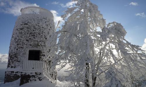 raureif am hirschenstein gipfel beitrag Stille Zeit – Winter erleben in Naturparken
