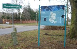 Informationstafel Sternenpark in Strodehne (Naturpark Westhavelland)
