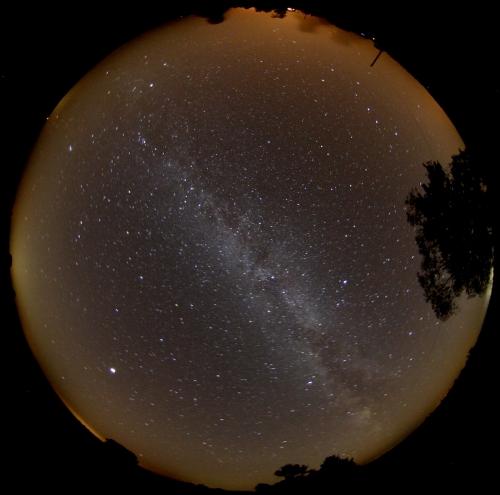 Nächtlicher Sternenhimmel 3. WestHavelländer AstroTreffen (WHAT) in Gülpe