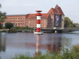 Optikpark Rathenow - Leuchtturm vor der Alten Mühle